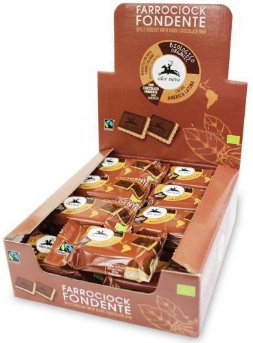 Herbatniki orkiszowe z gorzką czekoladą FAIR TRADE BIO 28 g Alce Nero