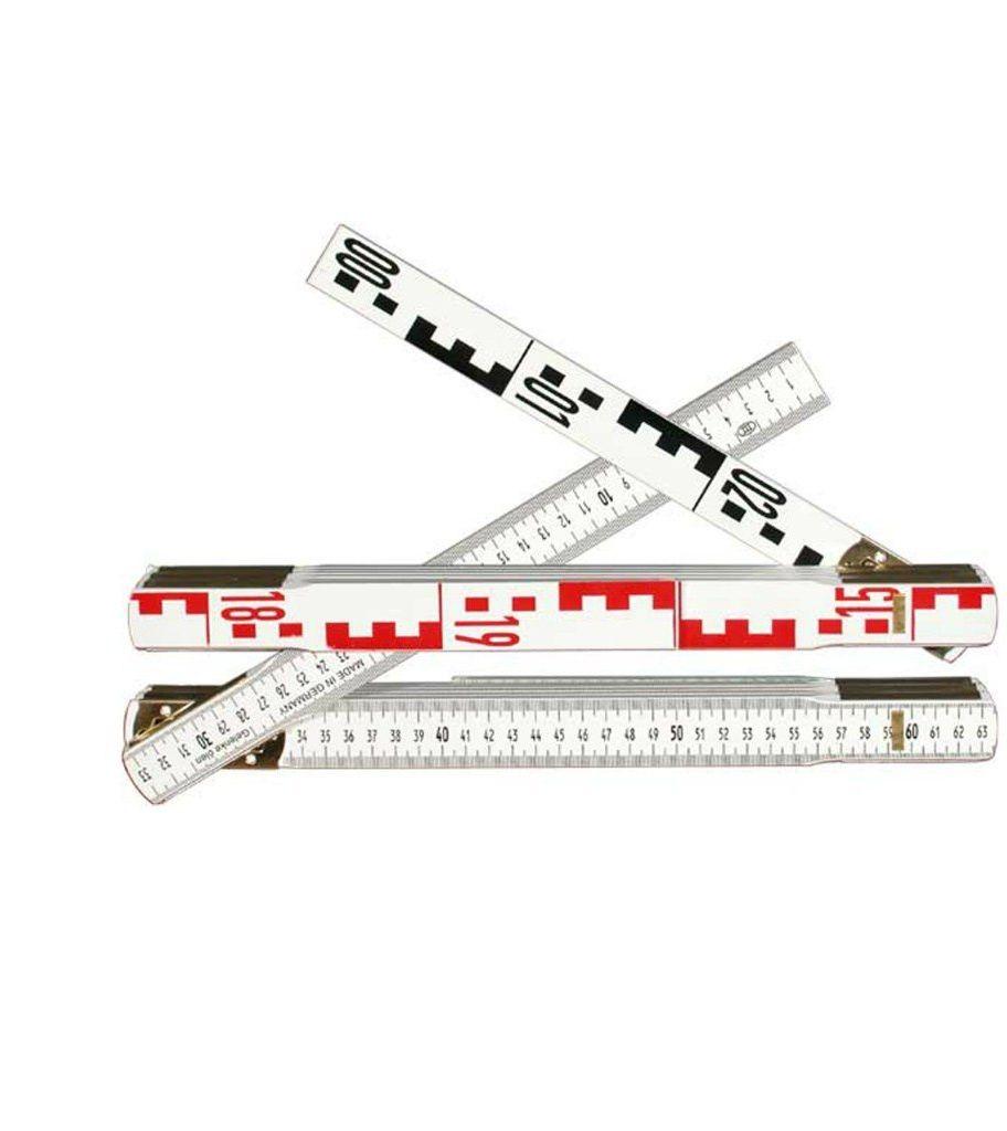 Przymiar składany do niwelacji 3m (calówka) 10-el