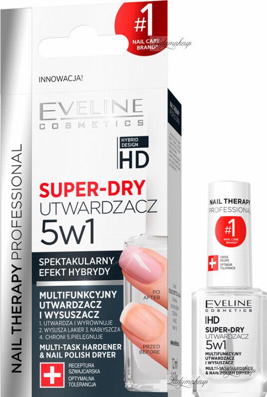 Eveline Cosmetics - NAIL THERAPY PROFESSIONAL - SUPER DRY - Multifunkcyjny utwardzacz i wysuszacz lakieru 5w1 - 12 ml