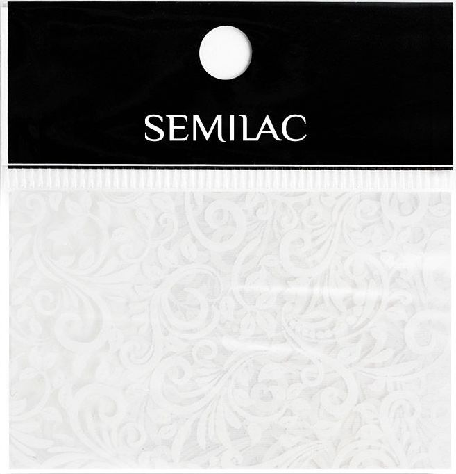 SEMILAC Folia transferowa 13 WHITE LACE KORONKA