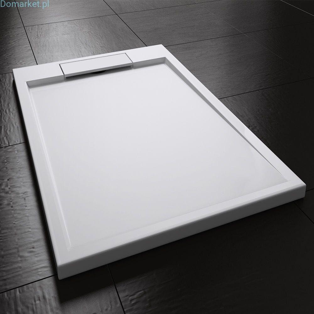 SL04 - Brodzik prysznicowy slim konglomerat biały