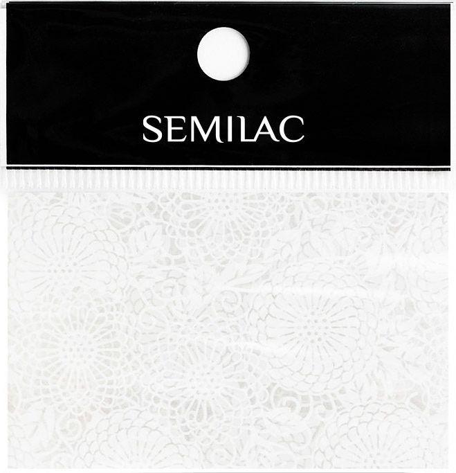 SEMILAC Folia transferowa 14 WHITE LACE KORONKA