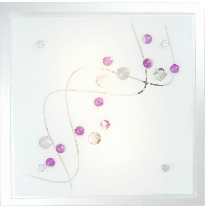 Globo plafon lampa sufitowa Ballerina 48072-2 kwadratowa szklana 24cm