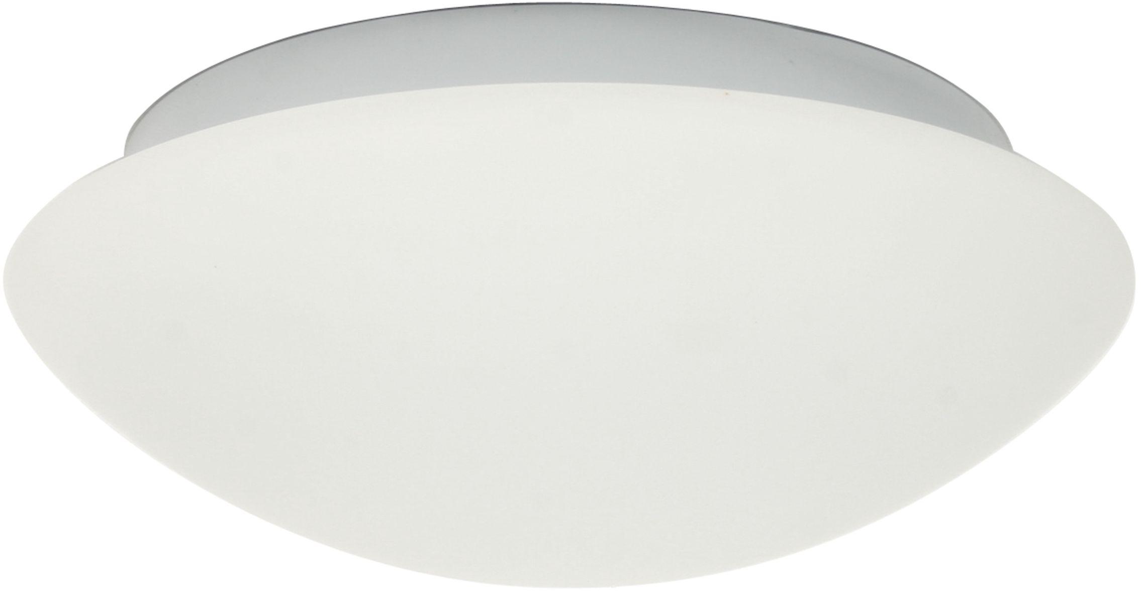 Candellux NINA 13-74235 plafon lampa sufitowa biała szklany klosz 1X60W E27 28cm