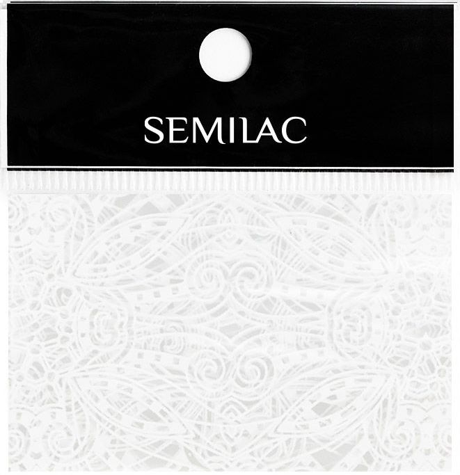SEMILAC Folia transferowa 15 WHITE LACE KORONKA
