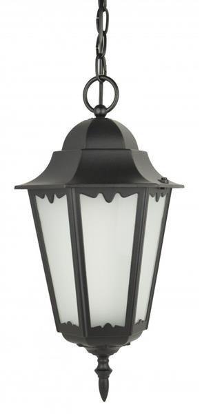 Lampa zewnętrzna aluminiowa wisząca Retro Classic II K 1018/1/D H czarny
