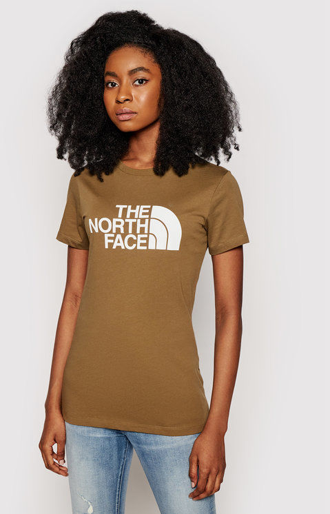 The North Face T-Shirt Easy Tee NF0A4T1Q37U1 Zielony Regular Fit