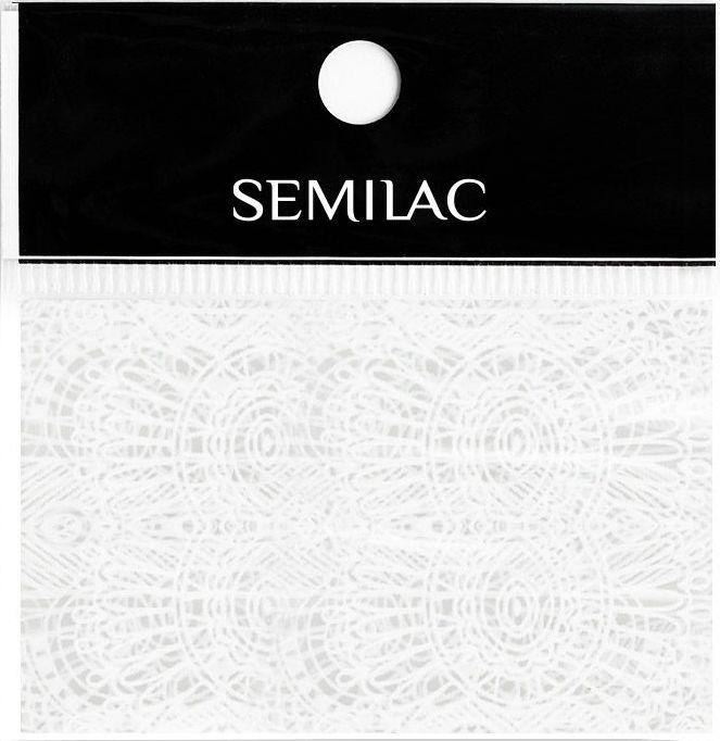 SEMILAC Folia transferowa 16 WHITE LACE KORONKA