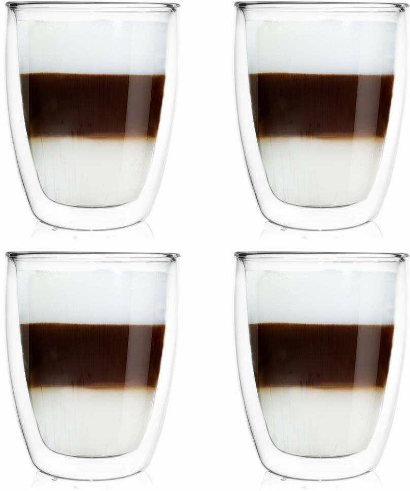 4x szklanka termiczna z podwójną ścianką do kawy latte 330 ml
