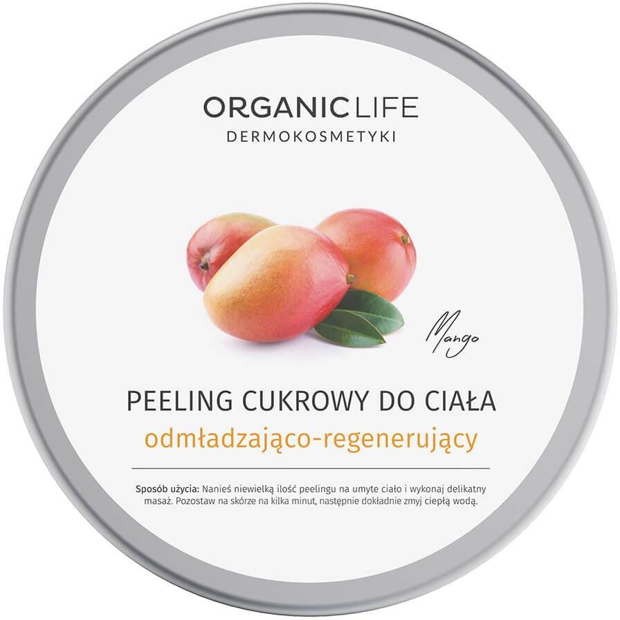 Peeling Cukrowy do Ciała 150 g Odmładzająco-Regenerujący Mango Organic Life
