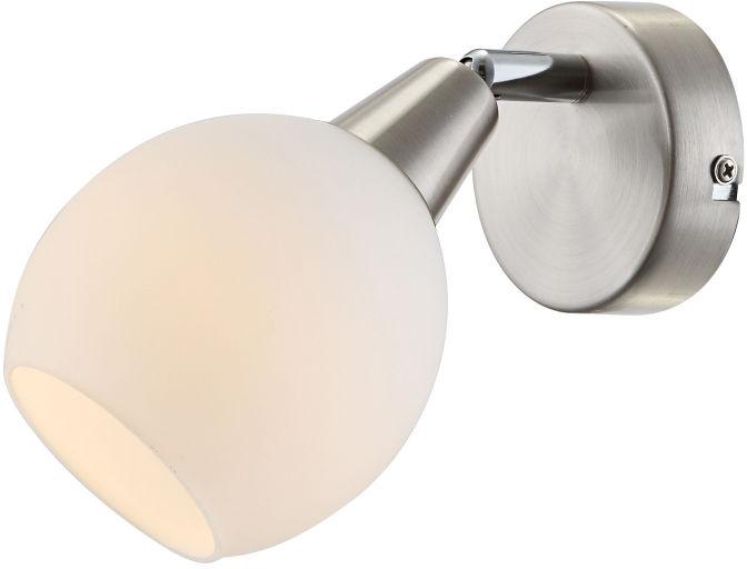 Globo ELLIOTT 54351-1 kinkiet lampa ścienna nikiel mat chrom 1x E14 LED 3W 3000K 16,5cm