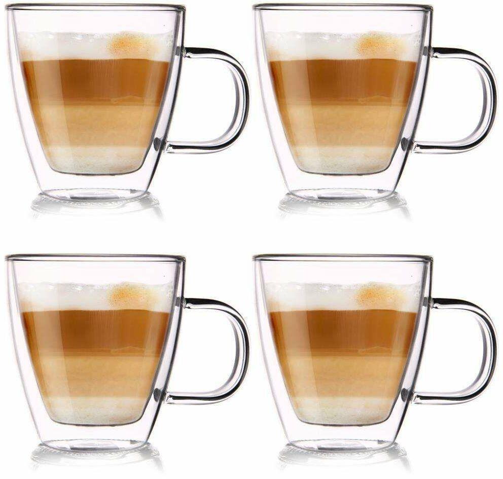 4x szklanka termiczna z podwójną ścianką do kawy 180 ml