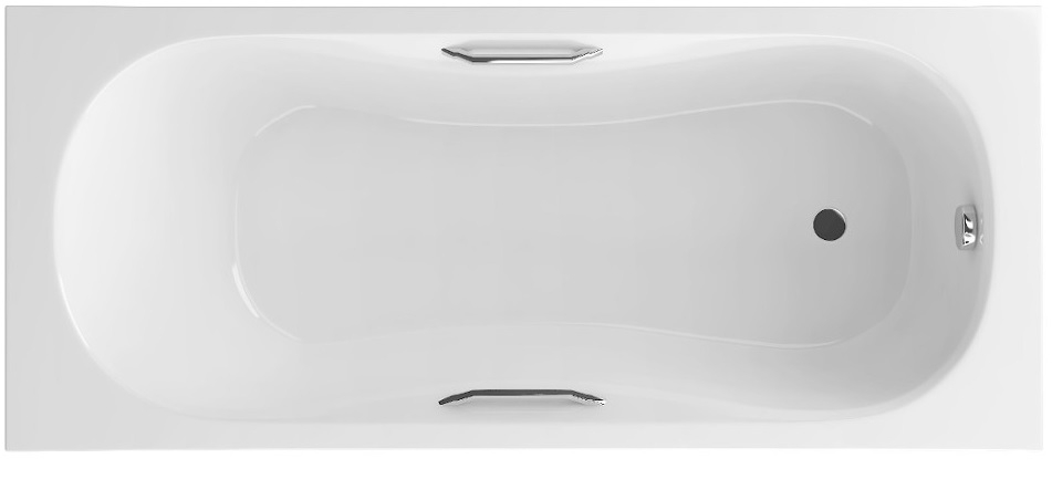 Excellent Clesis Lux wanna prostokątna z uchwytami 170x75 biała WAEX.CLE17WHC