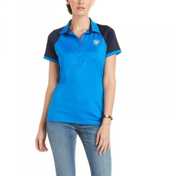Koszulka damska TEAM 3.0 SS POLO SS21 - Ariat - imperial blue