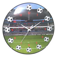 Zegar convex Sport Piłka Nożna