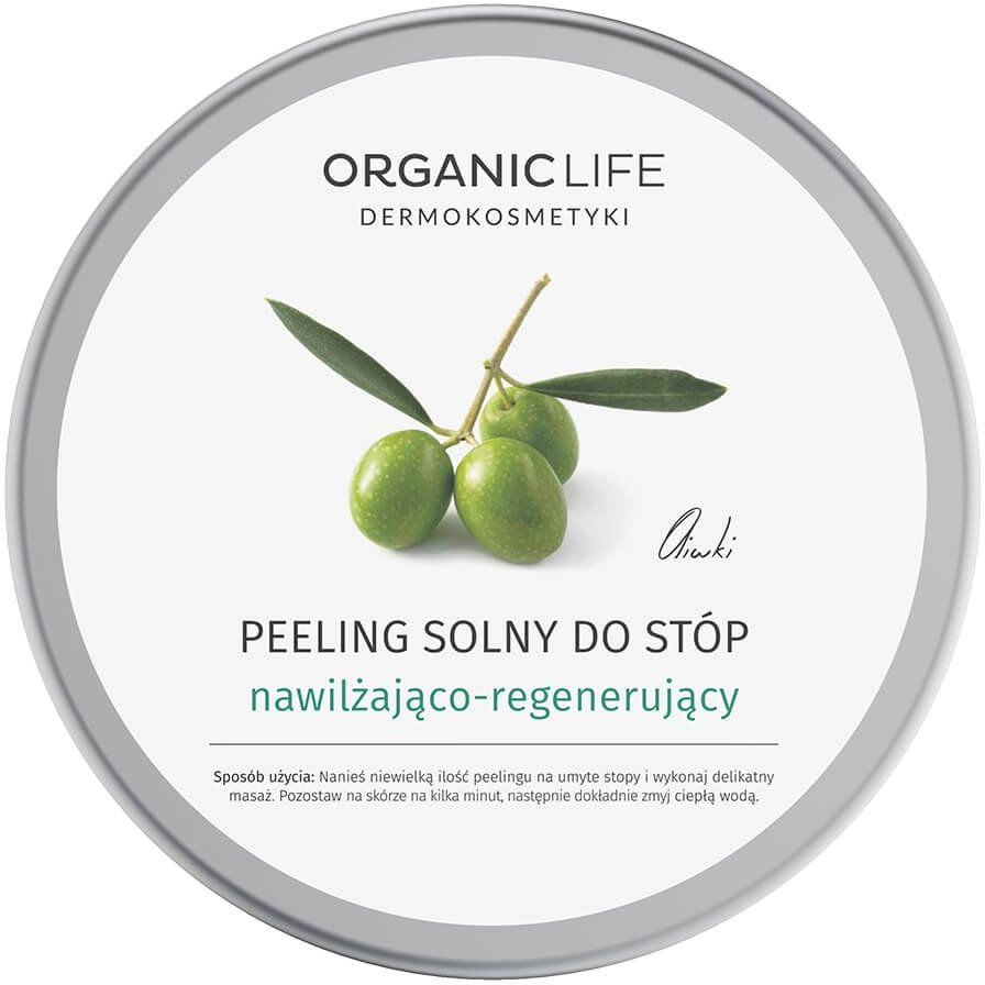Peeling Solny do Stóp 150 g Nawilżająco-Regenerujący Oliwki Organic Life