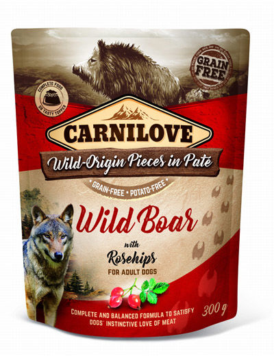 Carnilove DOG POUCH WILD BOAR & ROSEHIPS - 300G