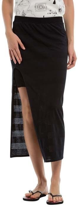 spódnica BENCH - Long Striped Jersey Skirt Black Beauty (BK11179)