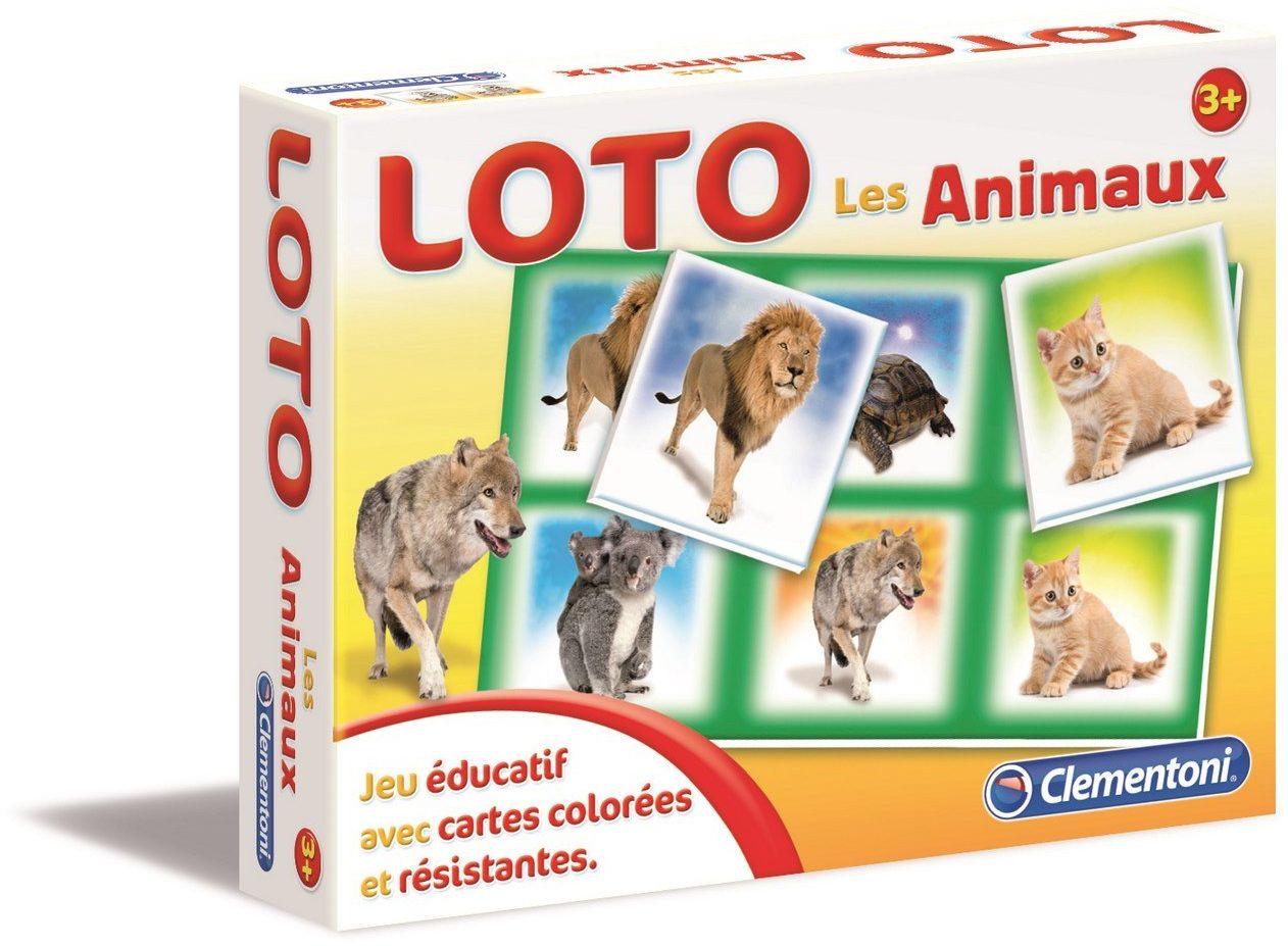 Clementoni  62481  gra naukowa i naukowa  Loto  zwierzęta