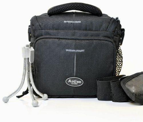Aparat fotograficzny torba ACTION BLACK ONE plus statyw do Sony Alpha 5000 5100 6000 HX400 H400 HX90 HX60 RX10