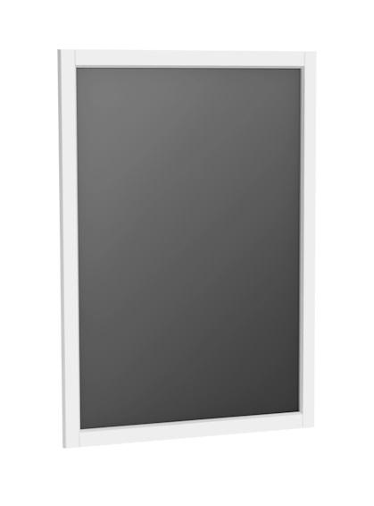 Oristo Montebianco lustro w ramie 60x80cm biały mat OR47-L-RAOO-60-2
