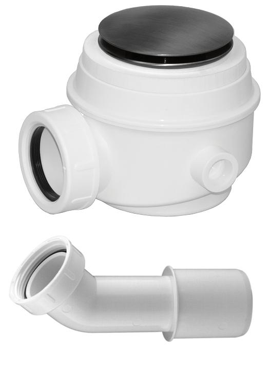 Omnires Syfon czarny brodzikowo-wannowy do brodzików z otworem 50 mm i wanien bez przelewu WB01XBL
