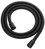 Wąż prysznicowy 150cm osłona stalowa,czarny mat