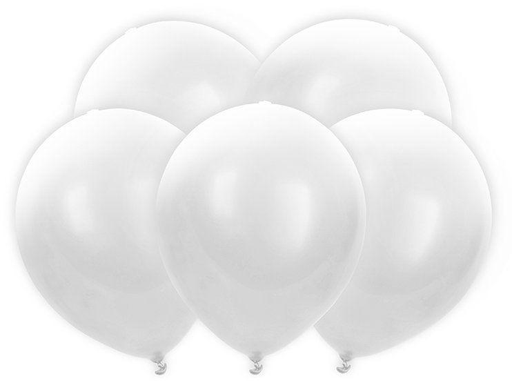 Białe świecące balony LED 30cm 5 sztuk BL12-3-008