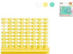 Habi 507 opakowanie foremek do wycinania stempli z liczbą i literami, zielone, ABS, wielokolorowe
