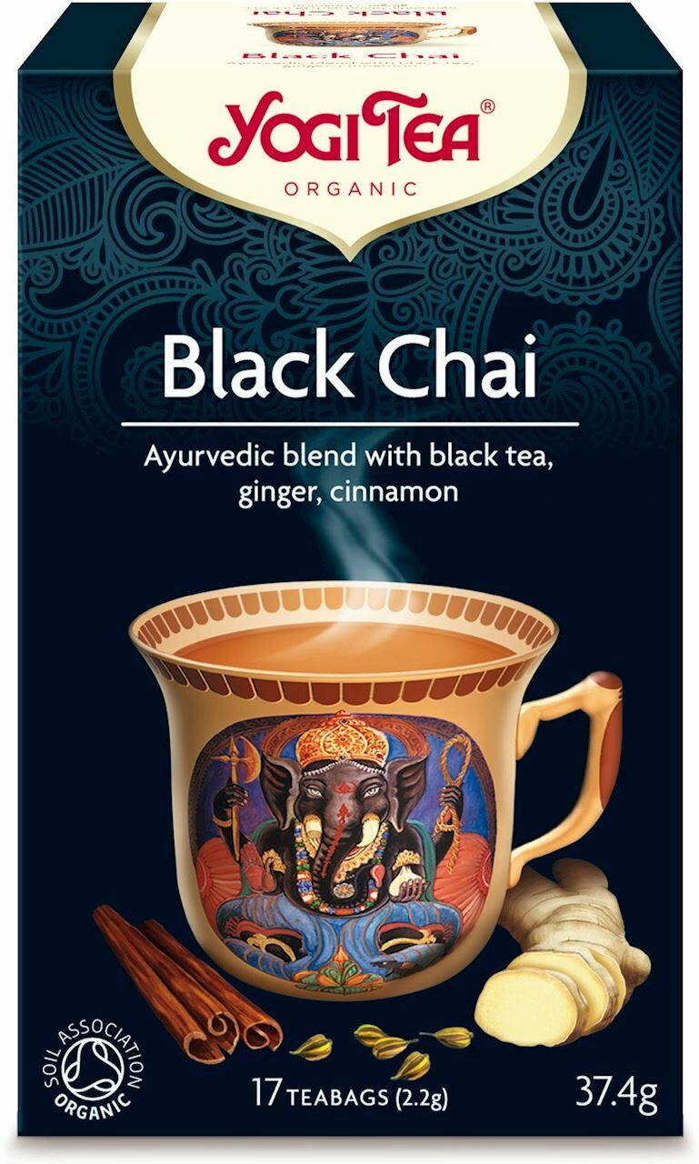 Herbata czarna black chai z imbirem i cynamonem bio 17 x 2,2 g 37,4 g - yogi tea