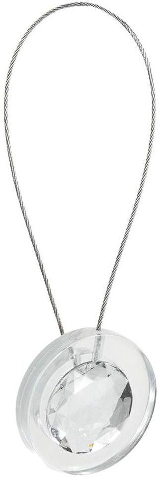 Upinacz do zasłon MAIRA srebrny 13 cm INSPIRE
