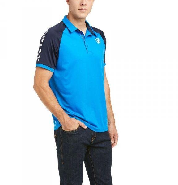 Koszulka męska TEAM 3.0 SS POLO SS21 - Ariat - imperial blue