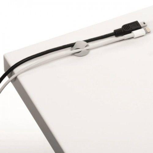 Klips samoprzylepny na 2 kabele Durable CAVOLINE Clip2 szary 6szt. /503810/