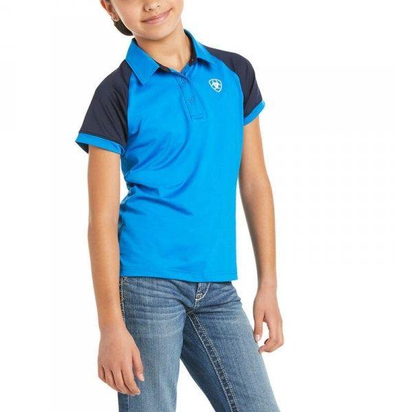 Koszulka młodzieżowa TEAM 3.0 SS POLO SS21 - Ariat - imperial blue
