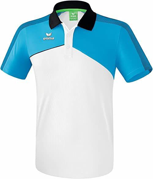 Erima Premium ONE 2.0 dziecięca koszulka polo, biała/Curacao/Sc, 128