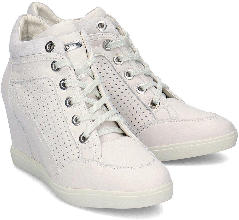 Geox Donna Eleni - Sneakersy Damskie - D7267C 00085 C1002 - Szary Biały