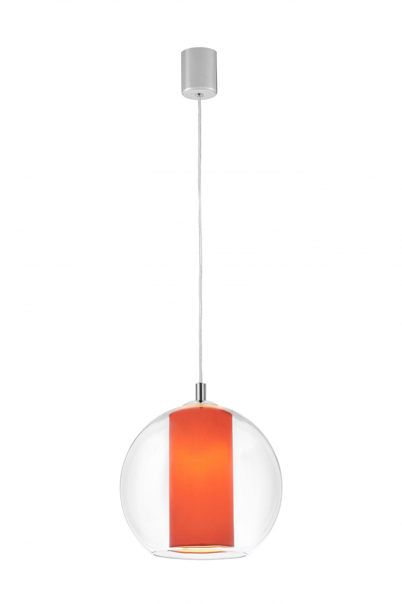 Lampa wisząca Merida M 10409111 KASPA szklana oprawa w kolorze koralowym