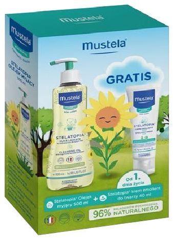 Mustela olejek myjący 500 ml + odżywczy krem do twarzy z Cold Cream 40 ml [Zestaw]