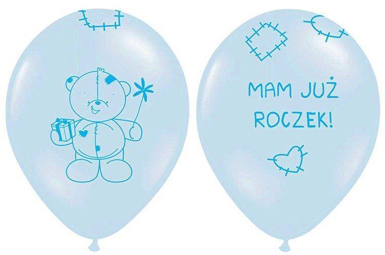 Balony Mam już Roczek błękitne 6 sztuk SB14P-221-011-6