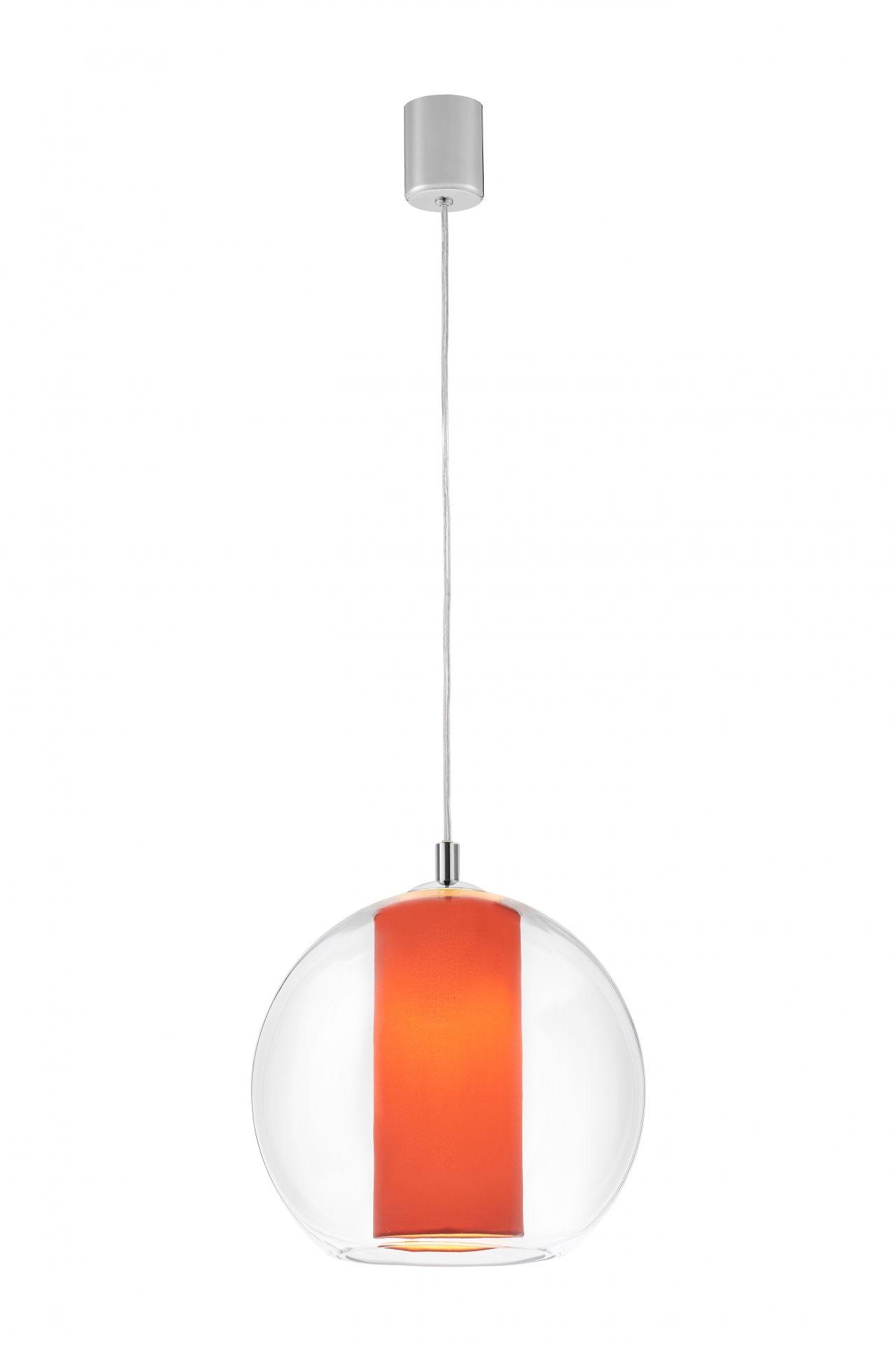 Lampa wisząca Merida L 10410111 KASPA szklana oprawa w kolorze koralowym