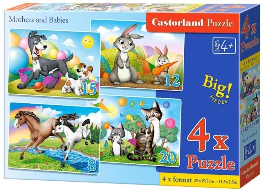 4 x Puzzle Castor 8+12+15+20 - Mama i dziecko, Mothers and Babies