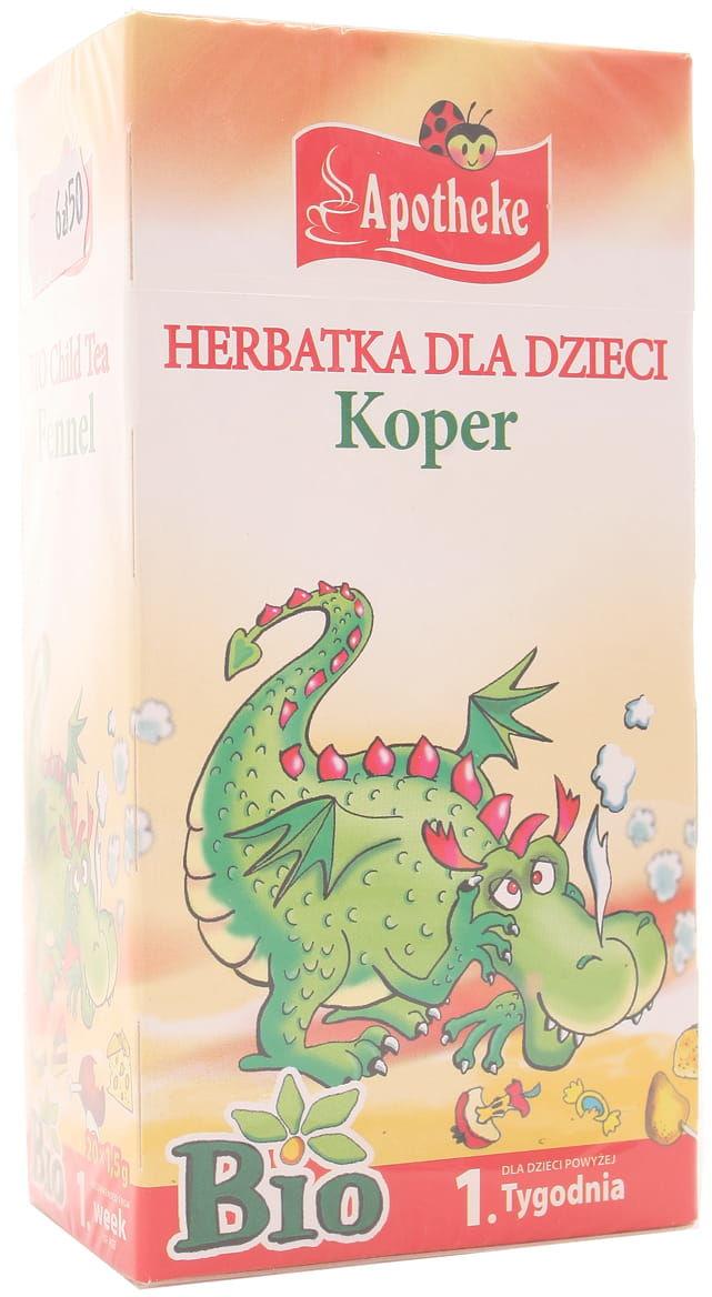 Herbatka dla dzieci koper BIO - Apotheke - 20sasz