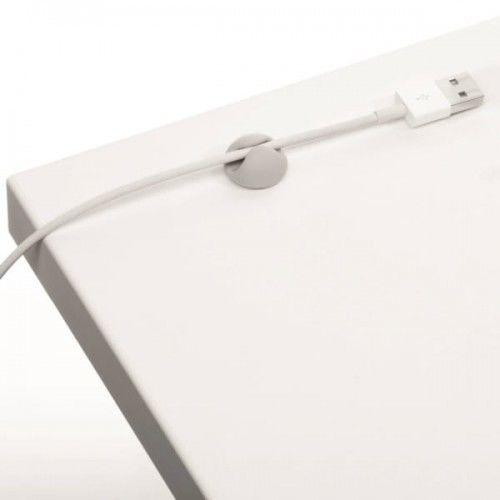 Klips samoprzylepny na 1 kabel Durable CAVOLINE Clip1 szary 6szt. /503710/