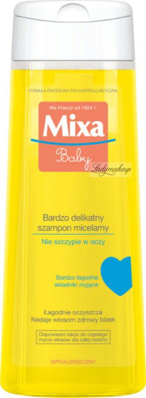 MIXA - Baby - Bardzo delikatny szampon micelarny do włosów dla dzieci i dorosłych - 250 ml