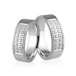 Obrączki srebrne - wzór Ag-253