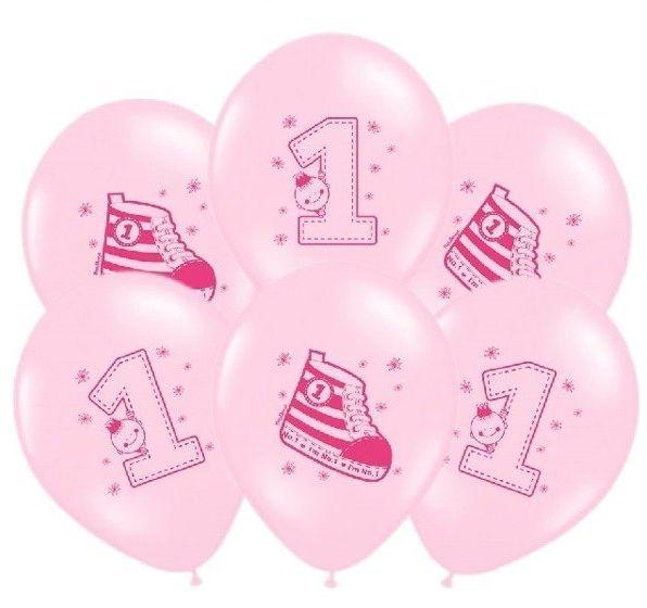 Balony Trampek różowe 6 sztuk SB14P-222-081J-6