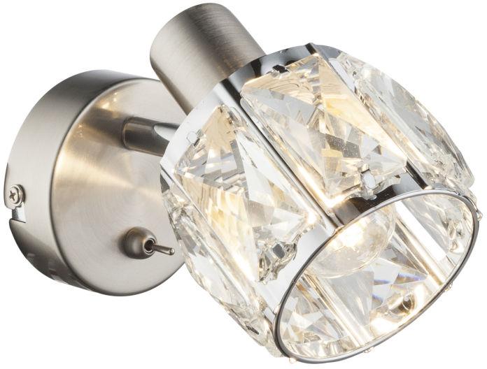 Globo KRIS 54356-1 kinkiet lampa ścienna satyna nikiel 1xE14 40W 12,5cm