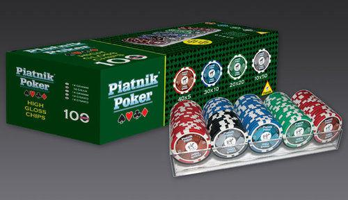 Poker 100 żetonów Piatnik ZAKŁADKA DO KSIĄŻEK GRATIS DO KAŻDEGO ZAMÓWIENIA