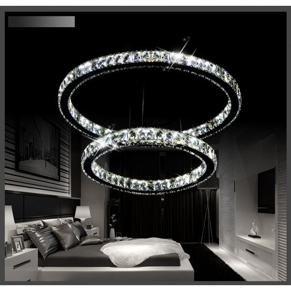 Żyrandol kryształowy RING 70x50 - gruby ring K065
