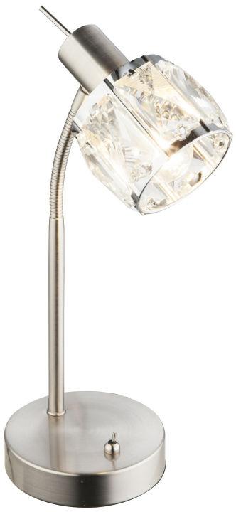 Globo KRIS 54356-1T lampa stołowa nikiel mat 1xE14 40W 28cm